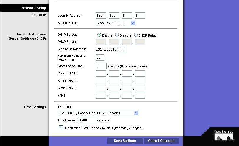 Konfiguracja routera Linksys WAG200G