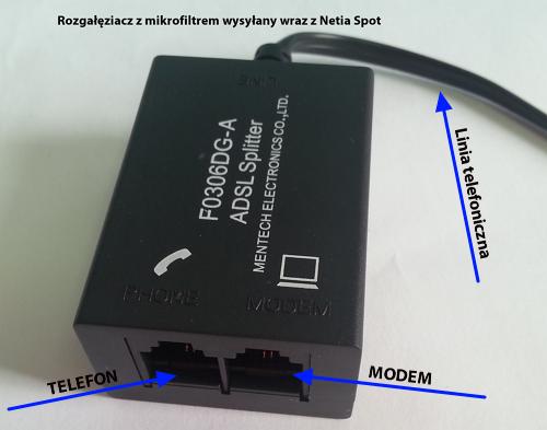 Mikrofiltr Netia Spot